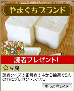 やまぐちブランド/「豆腐」をプレゼント