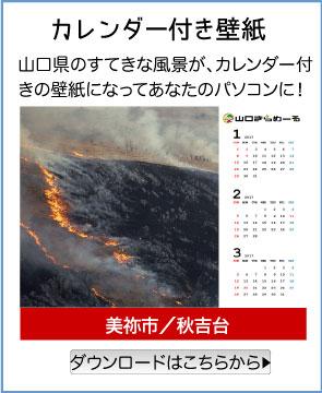 カレンダー付き壁紙/美祢市/秋吉台/山口県のすてきな風景が、カレンダー付きの壁紙になってあなたのパソコンに!