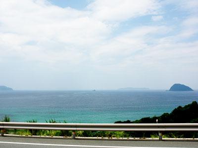 日本海を見渡す眺望の写真