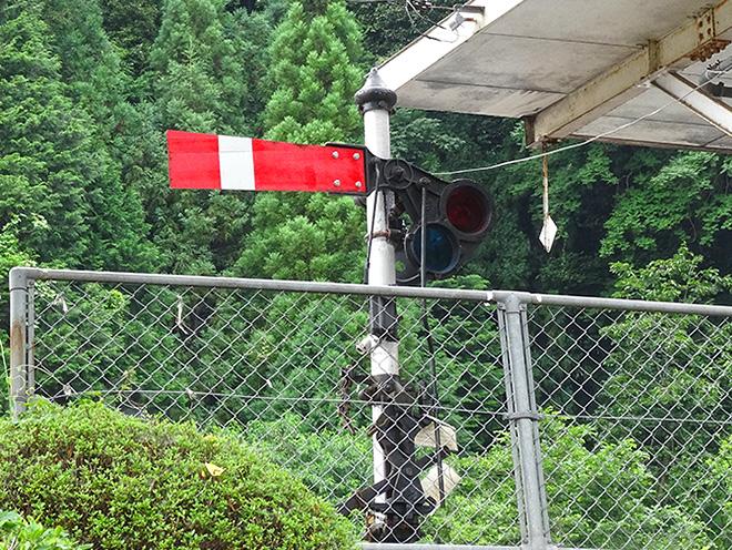 腕木式信号機の写真