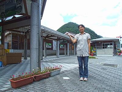 道の駅長門峡 駅長 塚本さんの写真