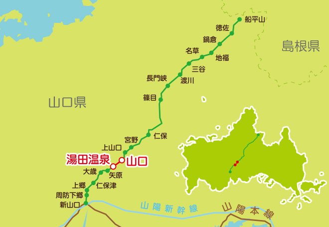 JR山口線路線図