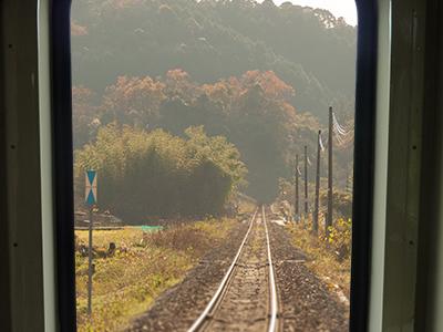 四郎ケ原駅から南大嶺駅間の景色の写真