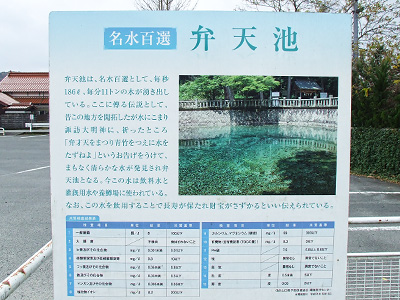 弁天池の説明板の写真
