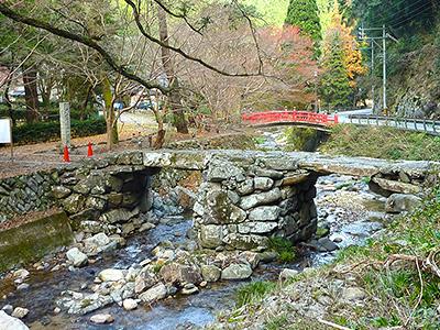 盤石橋の紅葉の写真