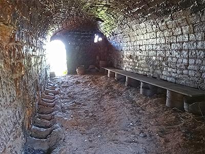 窯の内部の写真