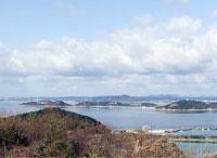 輝弘が上陸したとされる秋穂湾の写真