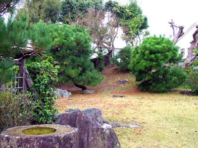 梅屋七兵衛旧宅の庭の写真