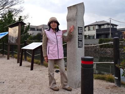 ボランティアガイドの山田さんの写真