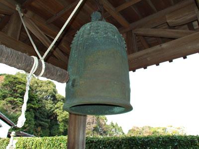 大楽寺の梵鐘の写真