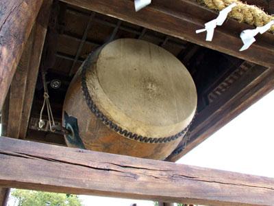 嚴島神社の大太鼓の写真