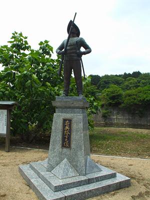 奇兵隊士像の写真
