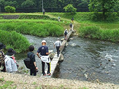 流れ橋の写真